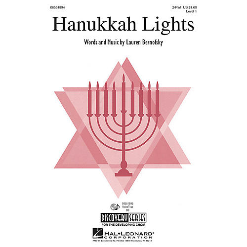 Hal Leonard Hanukkah Lights 2-Part composed by Lauren Bernofsky