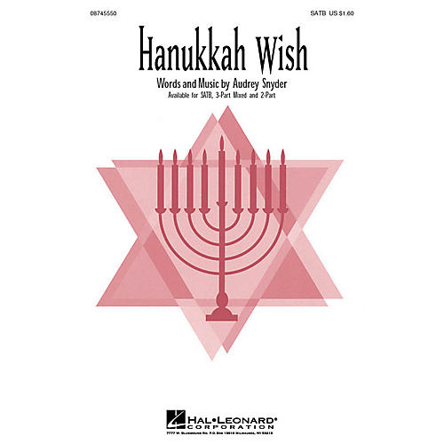 Hal Leonard Hanukkah Wish SATB composed by Audrey Snyder