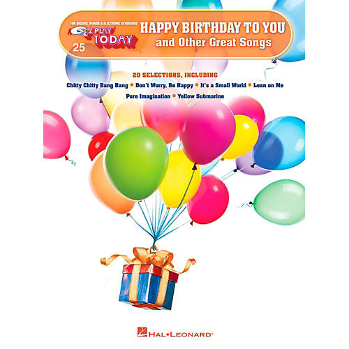 Hal Leonard Happy Birthday To You And Other Great Songs E-Z Play Today Volume 25