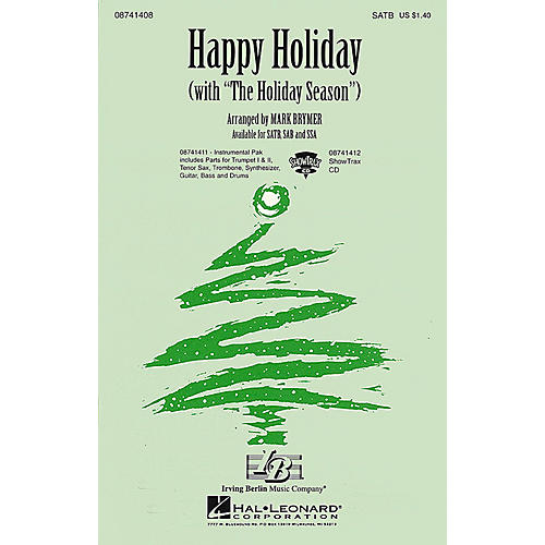 Hal Leonard Happy Holiday (with The Holiday Season) SATB arranged by Mark Brymer
