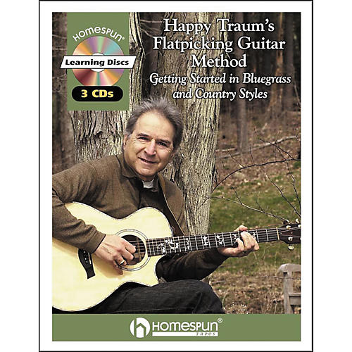 Homespun Happy Traum's Flatpicking Guitar Method (Book and 3-CD Package)