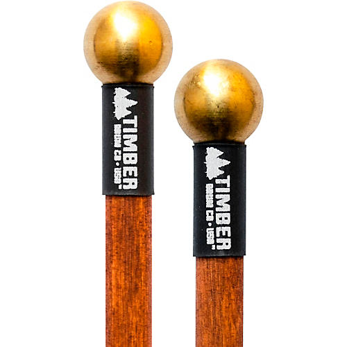 Timber Drum Company Hard Brass Bell Mallets with Birch Handles