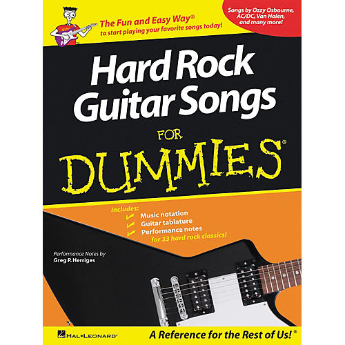 Hal Leonard Hard Rock Guitar Songs for Dummies Guitar Tab Songbook