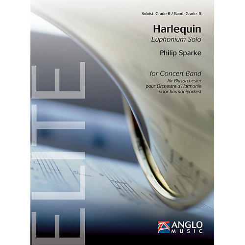 Anglo Music Press Harlequin (Grade 6 - Score Only) Concert Band Level 5 Composed by Philip Sparke