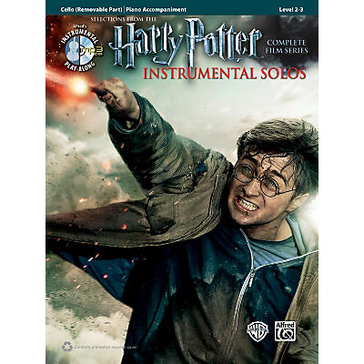 Alfred Harry Potter Instrumental Solos for Strings - Cello (Book/CD)