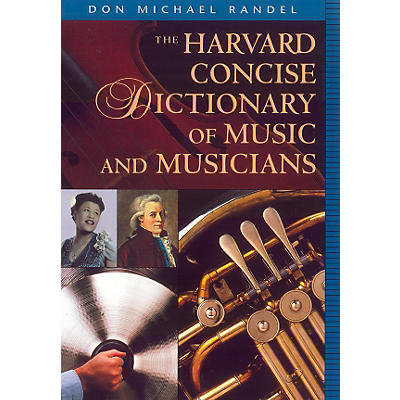 "Alfred Harvard Concise Dictionary of Music and Musicians 9"" x 6 1/4"" format"