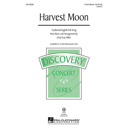Hal Leonard Harvest Moon (Discovery Level 2) 3-Part Mixed arranged by Cristi Cary Miller
