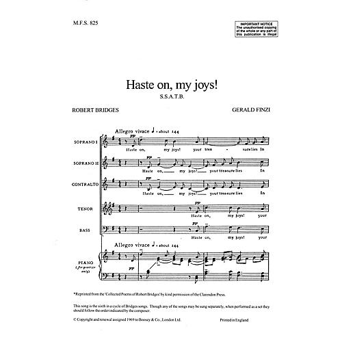 Boosey and Hawkes Haste on, my joys! (No. 6 from Seven Poems of Robert Bridges) SSATB A Cappella composed by Gerald Finzi
