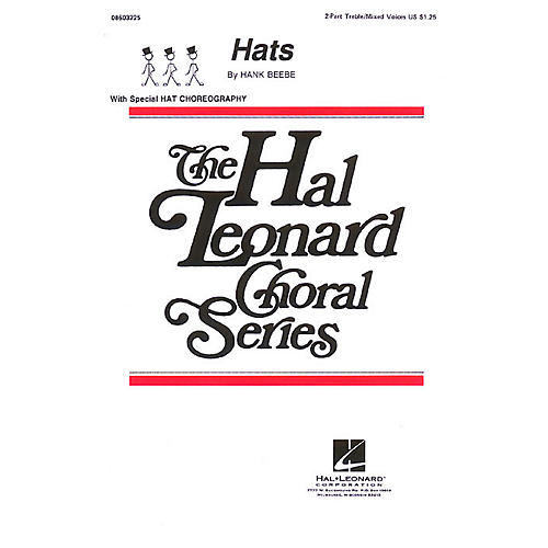 Hal Leonard Hats 2-Part composed by Hank Beebe