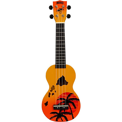 Mahalo Hawaii Islands Soprano Ukulele Orange