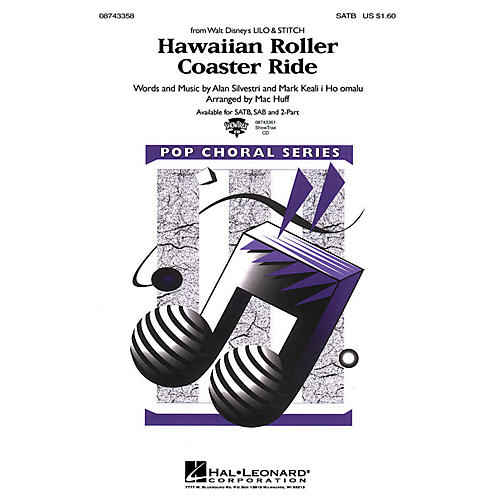 Hal Leonard Hawaiian Roller Coaster Ride (from Lilo and Stitch) 2-Part Arranged by Mac Huff