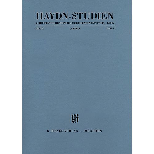 G. Henle Verlag Haydn-Studien, Vol. 10, No. 1 (June 2010) Henle Periodicals Series Softcover by Franz Josef Haydn
