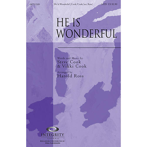 Integrity Choral He Is Wonderful ORCHESTRA ACCOMPANIMENT Arranged by Harold Ross