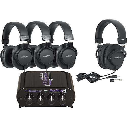 ART HeadAmp 4 Headphone Amp with 4 Headphones