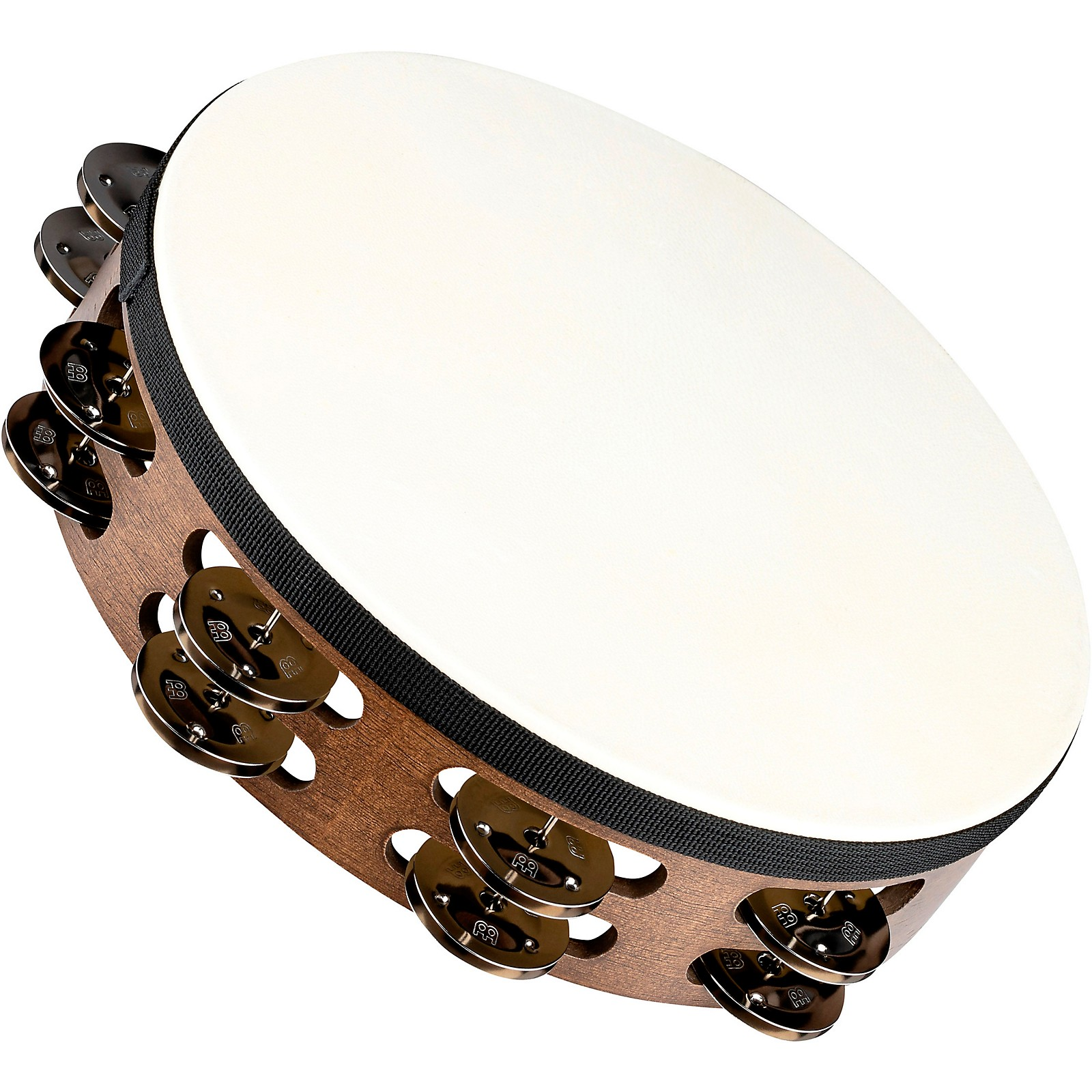 Meinl Headed Wood Tambourine with Double Row Steel Jingles