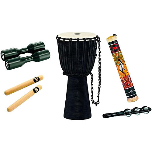 Meinl Headliner Djembe Percussion Pack with Free Shaker and Jingle Stick