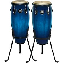 Meinl Headliner Series Wood Conga Pair with Basket Stands in Ocean Blue Burst