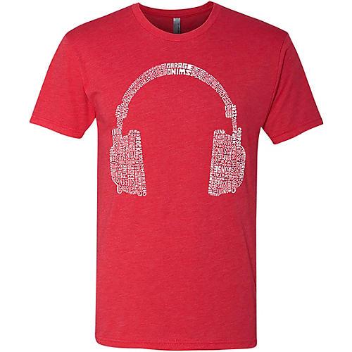 LA Pop Art Headphone Red T-Shirt