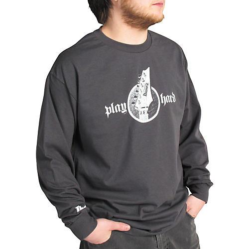 Ibanez Headstock Long Sleeve Shirt Gray Extra Large