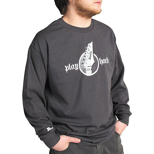 Ibanez Headstock Long Sleeve Shirt Gray Medium