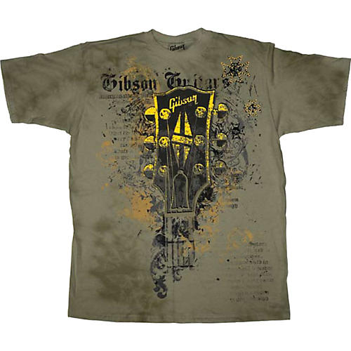 Gibson Headstock Men's Washed T-Shirt
