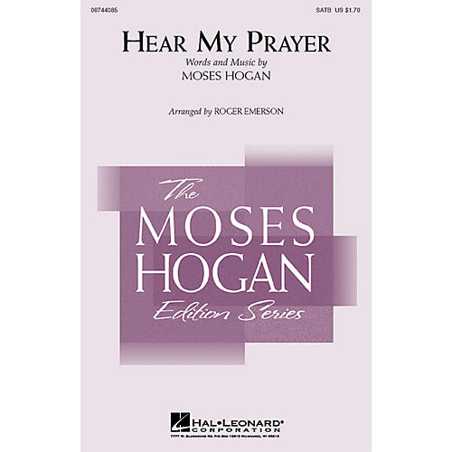 Hal Leonard Hear My Prayer 3-Part Mixed Arranged by Roger Emerson