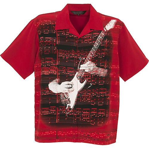 Rock House Los Angeles Heart & Soul Men's SS Microfiber Button Down Shirt