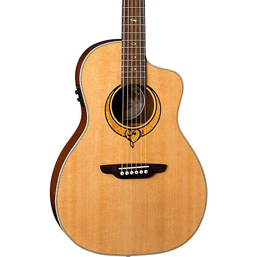 Luna Guitars Heartsong Parlor with USB Acoustic-Electric Guitar Natural