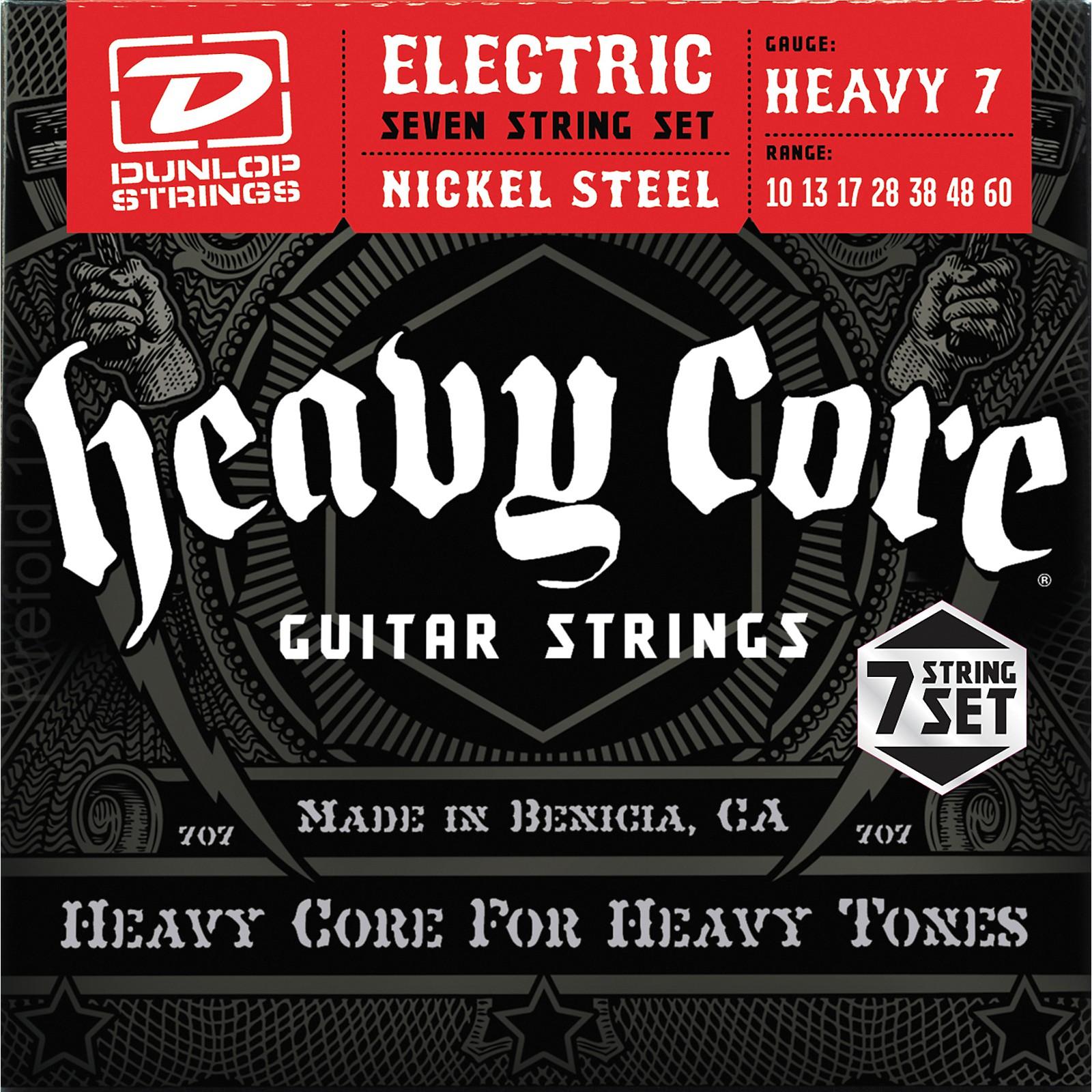 Dunlop Heavy Core 7-String Electric Guitar Strings - Heavy Gauge