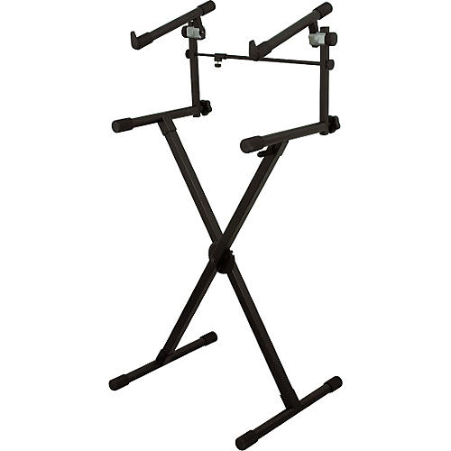 On-Stage Heavy-Duty 2-Tier Keyboard X Stand