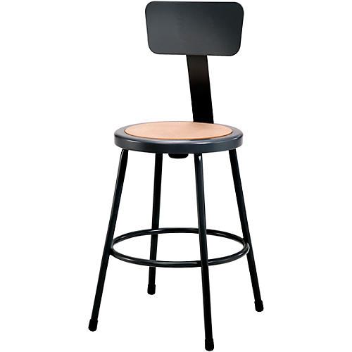 National Public Seating Heavy Duty Steel Stool With Backrest