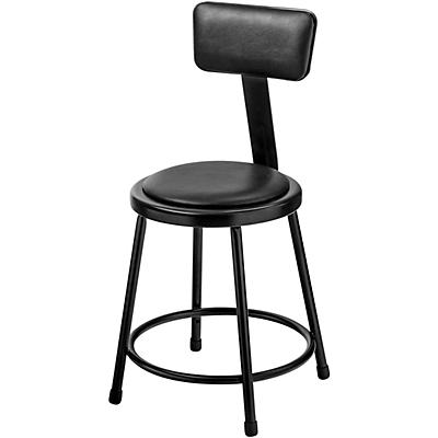 National Public Seating Heavy-Duty Vinyl Padded Steel Stool With Backrest