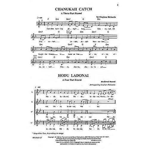 Transcontinental Music Hebrew Part Songs And Rounds composed by Stephen Richards