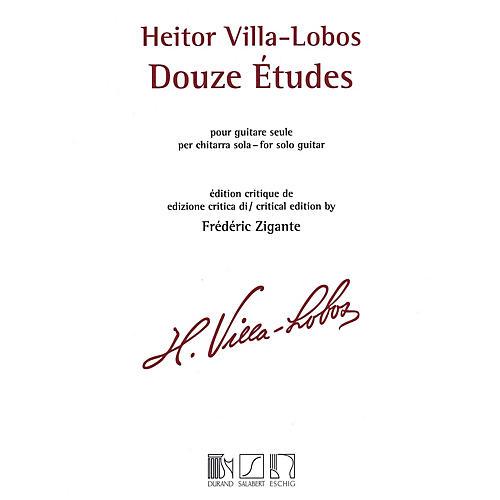 Max Eschig Heitor Villa-Lobos - 12 Études (Solo Guitar) MGB Series