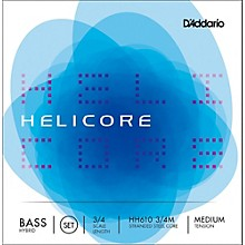 Helicore Hybrid Series Double Bass String Set 3/4 Size Medium