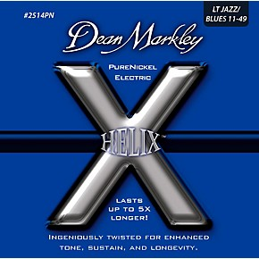 dean markley helix pure nickel light jazz blues electric guitar strings 11 49 musician 39 s friend. Black Bedroom Furniture Sets. Home Design Ideas