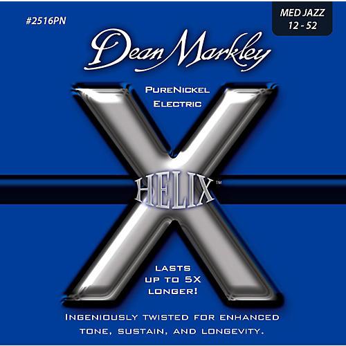 Dean Markley Helix Pure Nickel Medium Jazz Electric Guitar Strings (12-52)