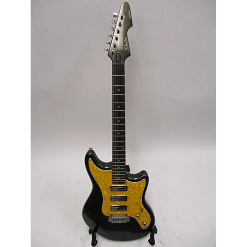 Schecter Guitar Research Hellcat 6 Solid Body Electric Guitar Black and Gold
