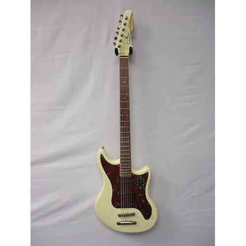 Schecter Guitar Research Hellcat VI Baritone Solid Body Electric Guitar Vintage White