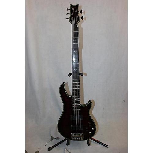 Schecter Guitar Research Hellraiser 5 String Electric Bass Guitar Crimson Red Burst