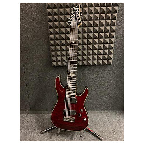 Schecter Guitar Research Hellraiser C8 8 STRING Solid Body Electric Guitar Candy Apple Red