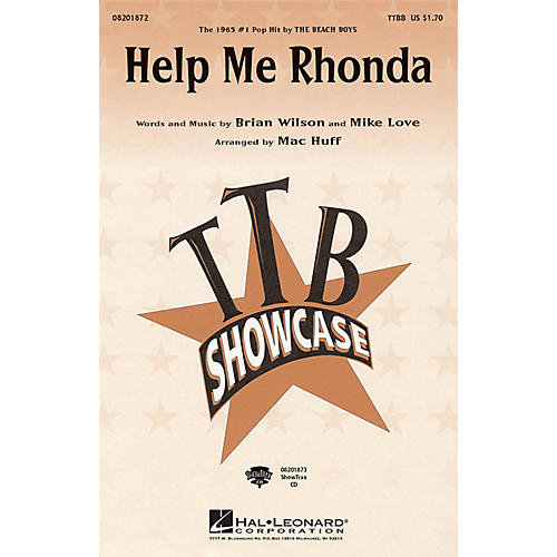 Hal Leonard Help Me Rhonda ShowTrax CD by The Beach Boys Arranged by Mac Huff