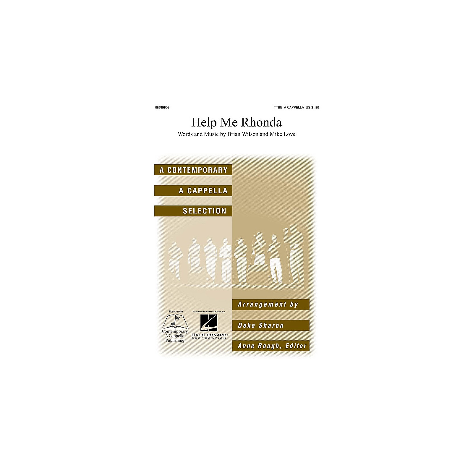 Contemporary A Cappella Publishing Help Me Rhonda TTBB A Cappella by Beach Boys arranged by Deke Sharon