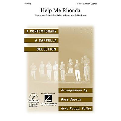 Contemporary A Cappella Publishing Help Me Rhonda TTBB A Cappella by Beach Boys arranged by Deke Sharon