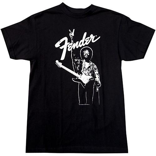 Fender Hendrix Peace Monochrome T-Shirt Black Medium