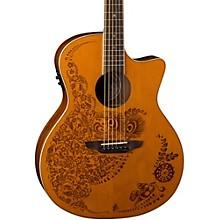 Open BoxLuna Guitars Henna 0asis Cedar Acoustic-Electric Guitar