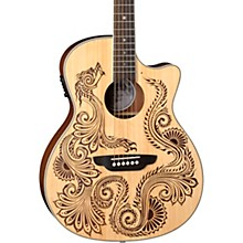Luna Guitars Henna Dragon Select Spruce Acoustic/Electric Guitar