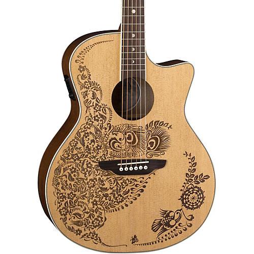 Luna Guitars Henna Oasis Select Spruce Acoustic-Electric Guitar Natural