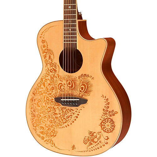 Luna Guitars Henna Oasis Spruce Series II Acoustic-Electric Guitar