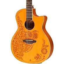 Luna Guitars Henna Oasis Spruce Series II Nylon String Acoustic-Electric Guitar